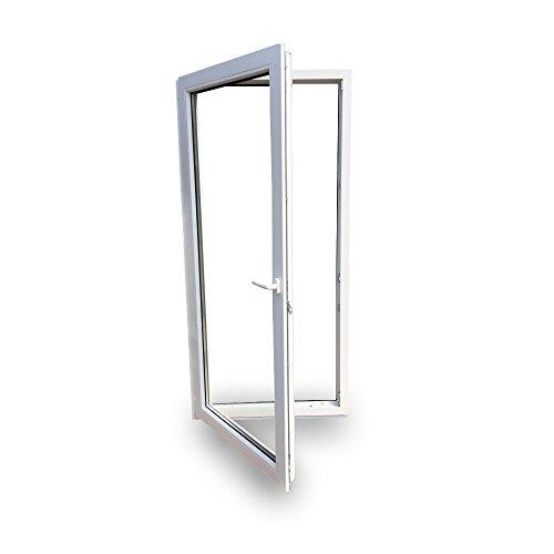 Balkontür - Kunststoff - Fenster - Tür - weiß - BxH: 80 x 200 cm / 800 x 2000 mm - DIN rechts