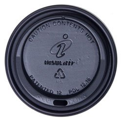 Dixie® Insulair® Dome Hot Drink Lid - 12/16 oz., Black