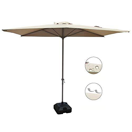 COBANA Half 7.5'by 4' Rectangular Outdoor Umbrella for Patio,Balcony,Garden,Deck, Beige by COBANA