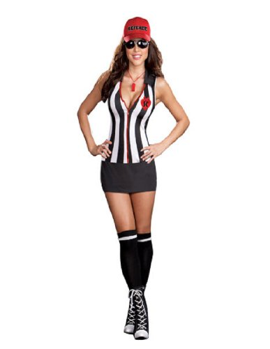 Referee Costume Halloween Express (Referee Sheila B. Cheatin Adult Costume - X-Large)