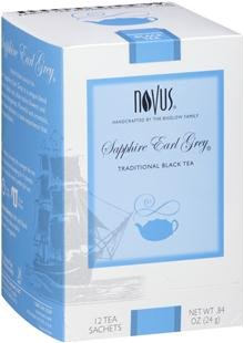 Novus Tea Sapphire Earl Grey Tea, 12 Tea Pouches 12 Tea Pouches