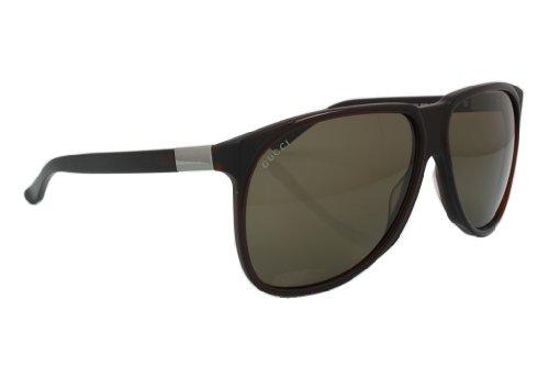 Gucci 1002 806 Dark Brown 1002 Aviator Sunglasses