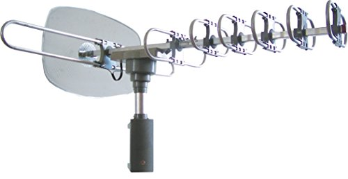 SuperSonic SC-609 HDTV Digital Amplified Rotating Antenna | 360 Degree Rotation: Clear Signal and Supports 2 TV Sets!