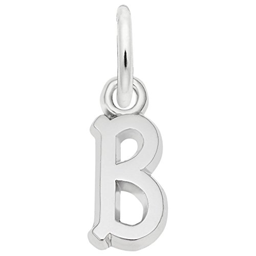 - Rembrandt Charms, Mini Initial Letter B.925 Sterling Silver