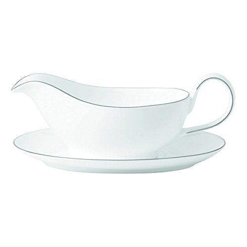 Royal Doulton Signature Platinum Gravy Boat & Stand,