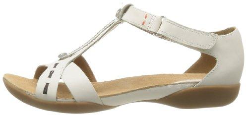 Viola Donna Raffi Clarks Sandali white Magic Leather xIZOCq