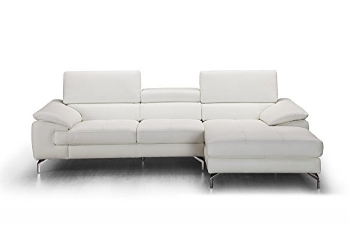 (J and M Furniture 18272-RHFC Alice Premium Leather Sectional in Chaise)