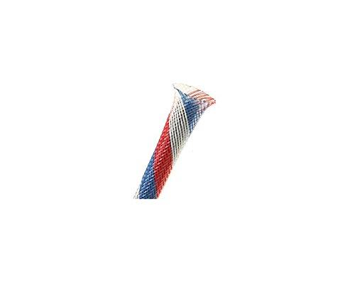 """Techflex PTN0.38PT25 Flexo PET 3/8"""" Braided Cable Sleeve Patriot Color 25 Feet"""