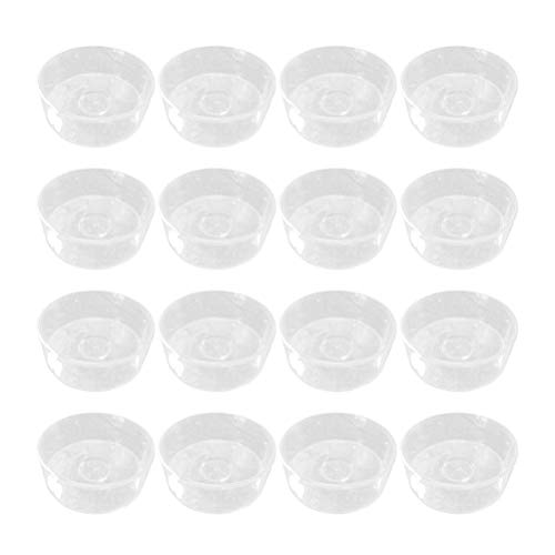SUPVOX 100 PCS Empty Clear Plastic Candle Containers Mold for Candle Making - Circle ()