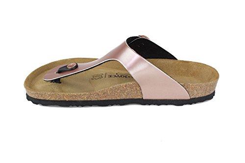 JOE N JOYCE Women Rio Soft-Footbed Metallic SynSoft Sandals Slippers Nude y6h98SDWge