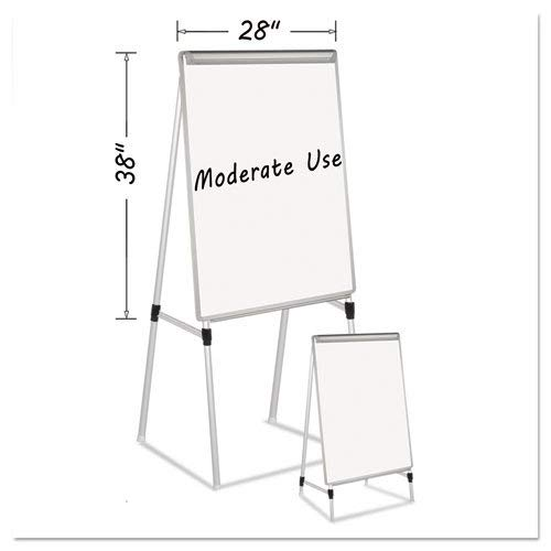 Silver Easy Clean Dry Erase Quad-Pod Presentation Easel, 45 to 79'', Silver'' by MasterVision