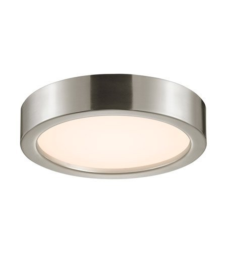 Mount Surface Sonneman Puck (Sonneman 3724-13 3724.13 Contemporary Modern Surface Mount from Puck Slim Led Collection in Pwt, Nckl, B/S, Slvr. Finish, 12