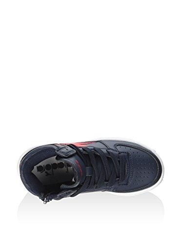 Diadora - Zapatillas de voleibol de Material Sintético para hombre Azul / Rojo