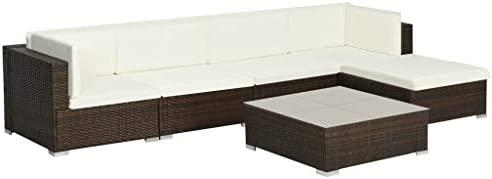 SOULONG Conjunto Muebles de Jardín 17 Piezas con Mesa de ...