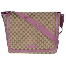 b8751b6003a8 Amazon.com: Gucci GG Canvas Diaper Bag Pink Italy New: Shoes