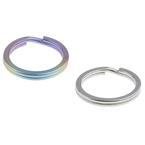 NATFUR 2pcs Titanium Metal Flat Split Loop Key Rings Keychain Findings DIY Craft Pretty Cute for Men for Girls Elegant Pretty Novelty Great Fine | Size - 18mm (French Furniture Atlanta)