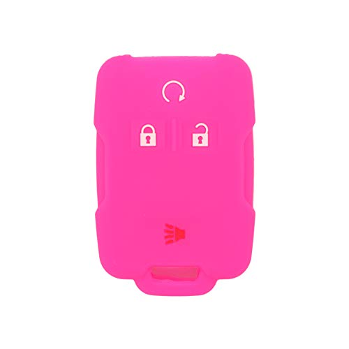SEGADEN Silicone Cover Protector Case Skin Jacket fit for CHEVROLET GMC 4 Button Remote Key Fob CV4616 Rose