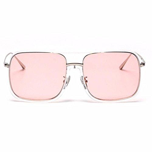 Powder De De Sol De Tide Polvos LXKMTYJ Transparent Caja Masculino Femenino Radiación Grande Del transparentes Gafas Vidrios Bastidor Cuadrados Planos 1S8qpT