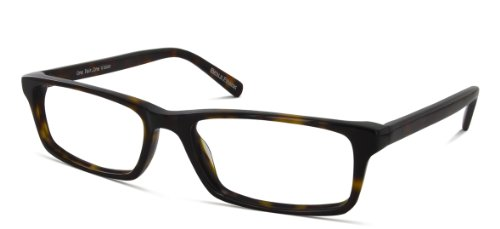 Benji Frank Harding Square Rectangle Black Prescription Geek Rx Plastic Eyeglasses Handmade Eye Wear - The Tortoise Frank