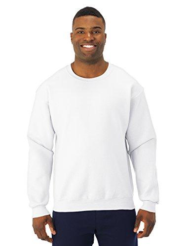 Jerzees Mens Super Sweats Crew Neck Sweatshirt  White  Large