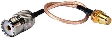 SMA Female to UHF SO-239 Female Connectors Kuinayouyi handheld antenna Cable for UHF Base and Mobile Antennas