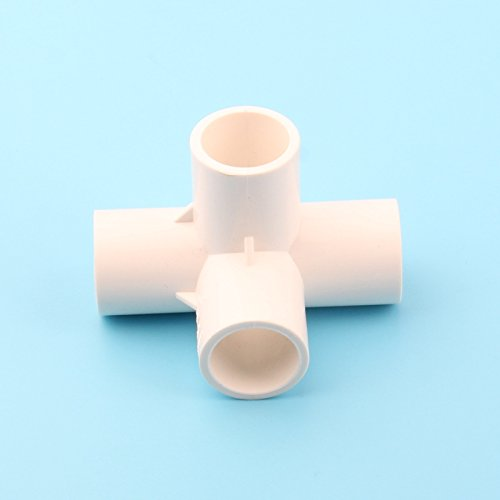 Ground Sprinklers 32Mm Inner Dia. White PVC Connectors Lawn Flower Irrigation Pipe Connector Tee Cross Five-Way Six-Way Joints 32mm Cross Inner Dia. 32mm