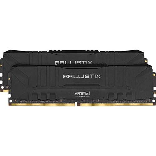 chollos oferta descuentos barato Crucial Ballistix BL2K8G36C16U4B 3600 MHz DDR4 DRAM Memoria Gamer para Ordenadores de sobremesa 16GB 8GB x2 CL16 Negro