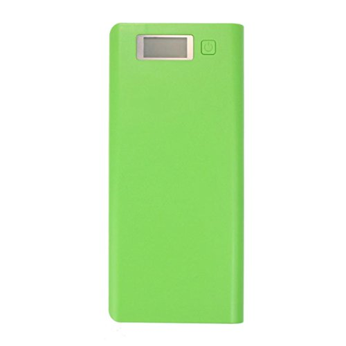 Yoyorule 5V 3A Dual USB 18650 Power Bank Battery Box Charger For iPhone 6 Plus S6 LG SONY NOKIA (Green)