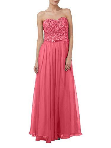 Hell Braut Partykleider Brautmutterkleider Steine Marie Herzausschnitt La Rock Chiffon Rosa Abendkleider Wassermelon 5qnwE6xpa