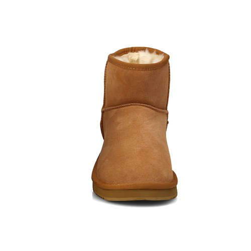 Nieuwe Bruine Leren Mooie Snow Winter Dameslaarzen