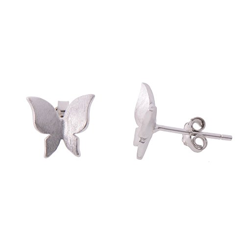 Paialco 925 Sterling Silver Adorable Butterfly Earring Studs for Women (3/8 x 3/8 Inch)