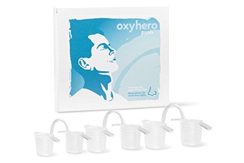 oxyhero push - Nasenspreizer Starterpack in 3 Größen (S / M / L) gegen Schnarchen - Premium-Schnarchstopper Made in Germany - Eine gute Alternative zu Nasenpflastern, Nasenklammern, Nasenspray, Schnarchschienen und Kinnband