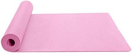 YANJDN ヨガマットノンスリップ厚手万能ヨガマットヘルス&フィットネスソフト滑り止めTPEエコ素材 軽量 弾力性 滑り止め バッグ付き ヨガマットエコフレンドリーエクササイズ&ワークアウトマット (ピンク色)