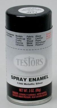 Silver Spray Testors Enamel Plastic Model Paint