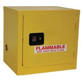 - Stackable Flammable Cabinet, Manual Close Single Door 6 Gal, 23