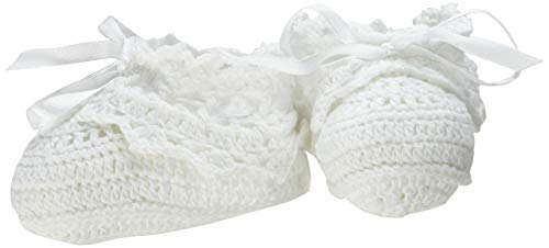 - Lillian Rose Crocheted Baby Booties, White