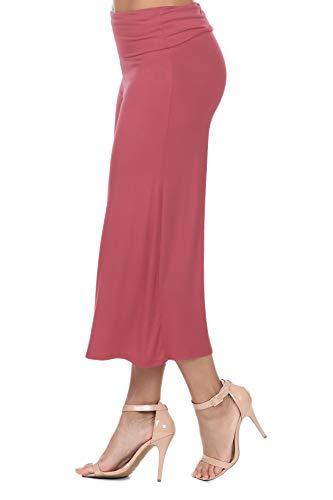 iliad USA 7012 Women's Knit Jersey Capri Culottes Pants Rose M