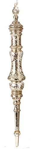 Raz Silent Luxury Stunning Silver Mercury Commercial Size Christmas Finial Ornament 20.5'' by Raz