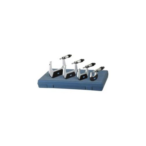 "Fowler Full Warranty Economy Outside Inch Micrometer Set, 52-229-214-0, 0-4"" Measuring Range, 0.0001"" Graduation"