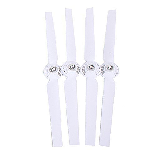 Hobbylane Pairs Nylon Propellers Prop Blades Set A Plus B for Yuneec Typhoon Q500+, Q500, 4K RC Quad Copter Drone Spare Replace Parts 2CW/2CCW Rotor Blades, White