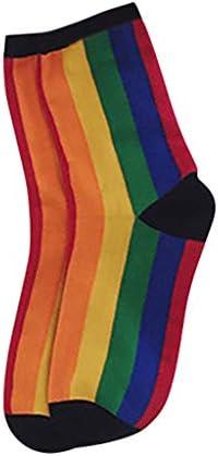 UniSimple Color Socks Winter Knitted Socks Stitching Color Knitt Socks Comfortable Floor Socks Stockings Funny Skateboard Sock Lovely Casual Crew Funny Socks (A) / UniSimple Color Socks Winter Knitted Socks Stitching Color Knitt So...