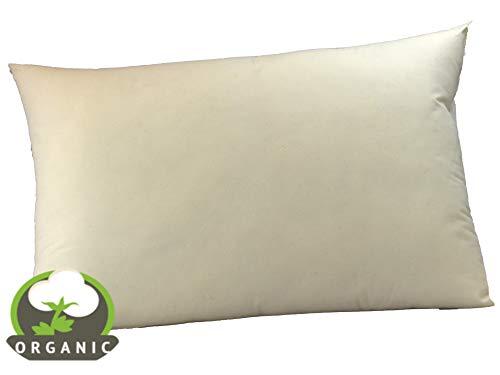 MoonRest - Organic Standard Pillow, Natural Fabric - Hypoallergenic Down-Like Fill - Standard Pillow - 20