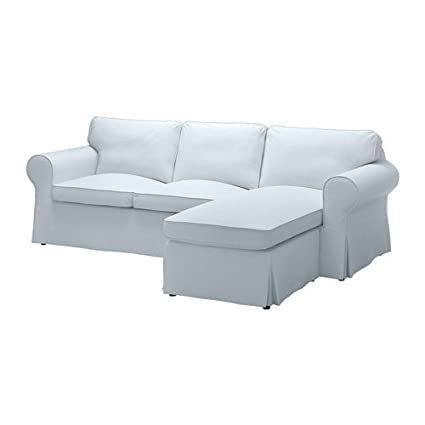 Amazon.com: Ikea Sectional, 3-seat, Nordvalla light blue ...