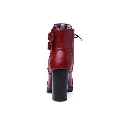 pwne Zapatos De Mujer Botas Primavera/Otoño/Invierno Tacones/Plataforma/Moda Botas/Bootie/Round Toe Carrera Office/Vestir/Ocasionales US9 / EU40 / UK7 / CN41