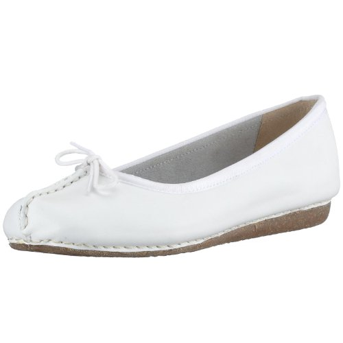 Flate Clarks Fregner Ballerina Kvinners Hvit hvit qqpHEw7rx