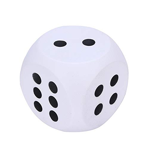 (Drfoytg Stress Reliever Toys Jumbo Squishy Toy Dice Dice Squeeze Slow Rising 10cm (White))