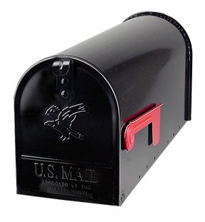 (Solar Group E16B Large Galvanized Steel Black Rural Size Mailbox)