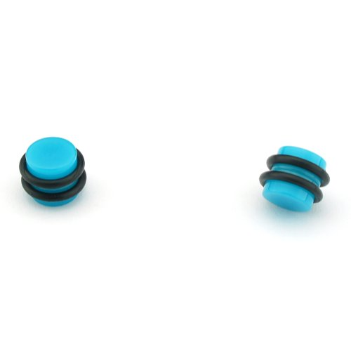 Blue Magnetic Design - Acrylic Fake Plugs - Cheaters - 0G Gauge - 8mm