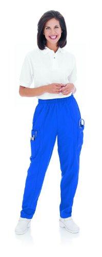 Landau Women's Classic Fit Cargo Elastic Waist Scrub Pants Small (Bep Landau)