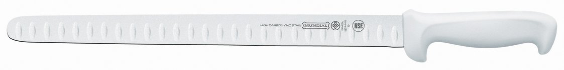 Mundial W5627-14GE 14-Inch Hollow Edge Slicing Knife, White by Mundial